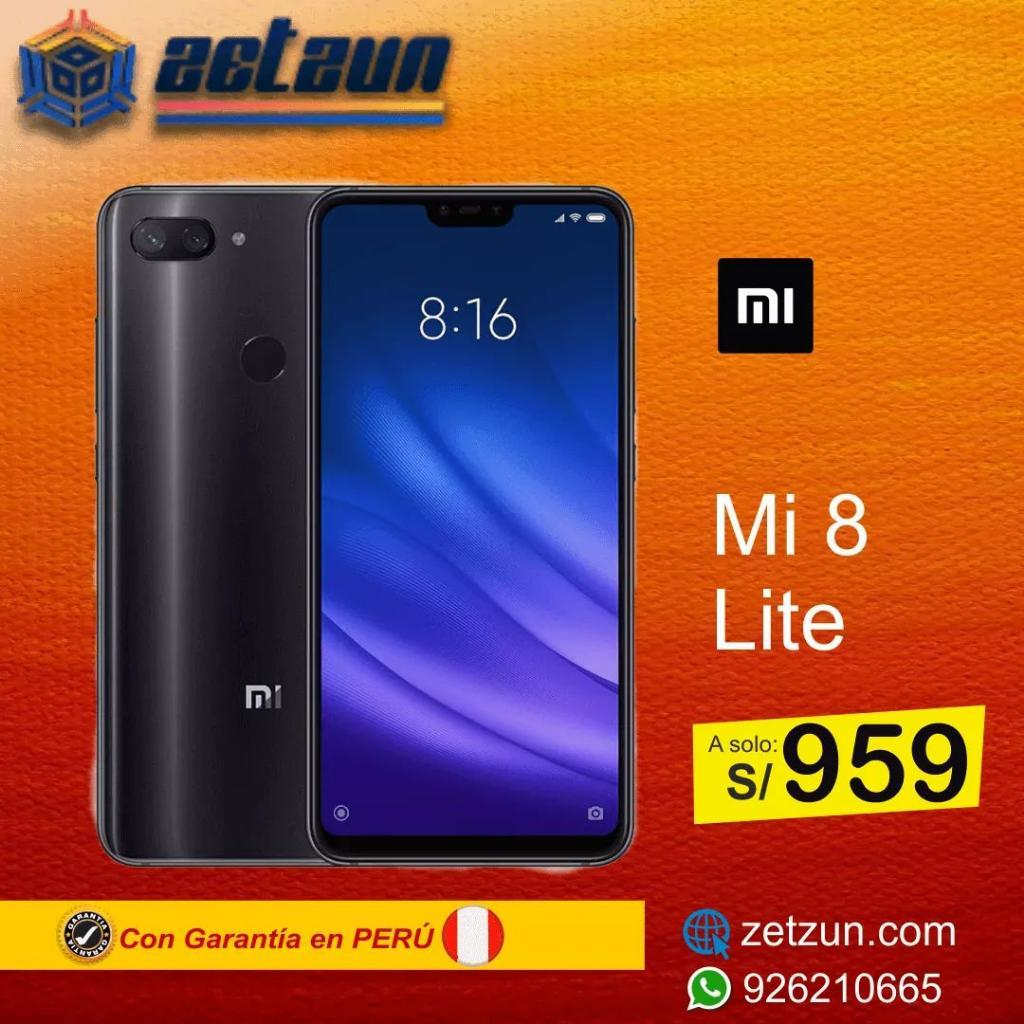 Xiaomi Mi 8 Lite 4gb 64gb Negro Azul Ver