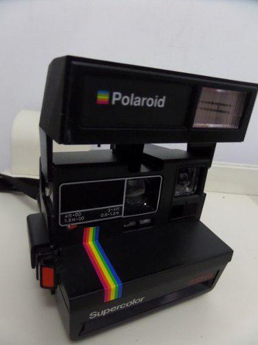 Antigua Camara Fotografica Polaroid De Los 80s Funcionando