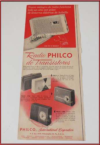 Dante42 Publicidad Antigua Retro Radio Philco 1960