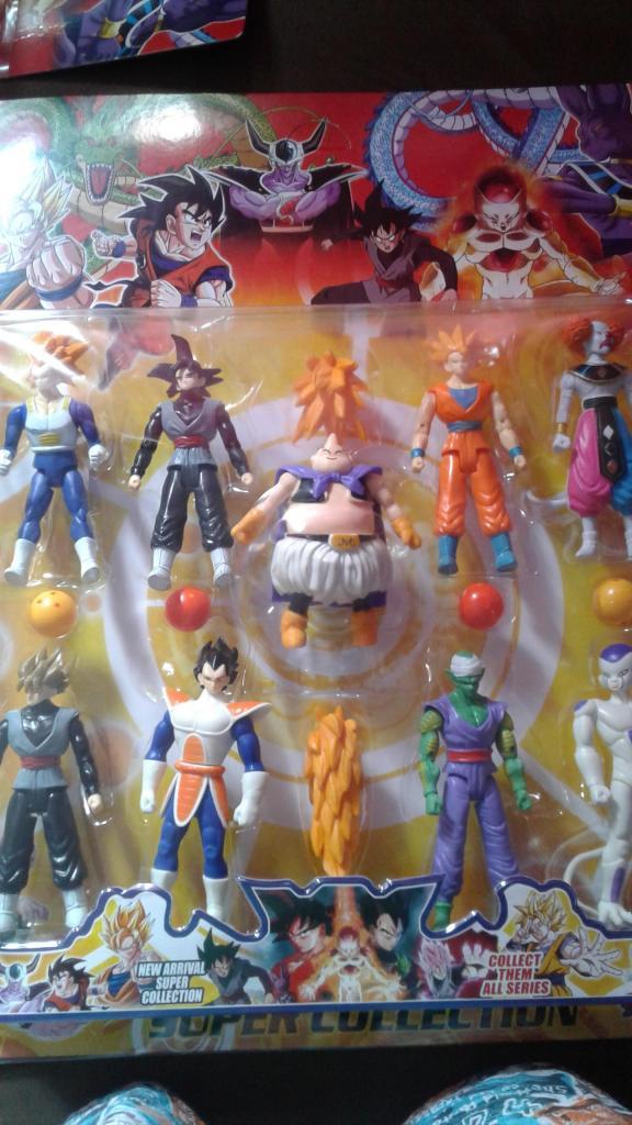 Muñecos de Dragon Ball Shen Long Goku, Gohan, Vegeta Majin