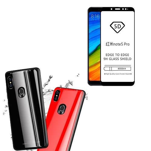 Vidrio Mica Case Xiaomi Note 5, 6, 7 Pro/ Mi A2 / Pocophone