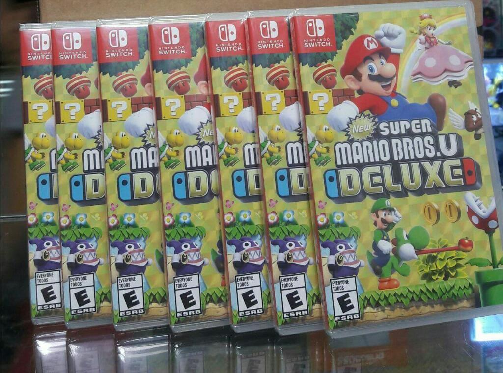 New Super Mario Bros U Deluxe Nintendo Switch Nuevo y