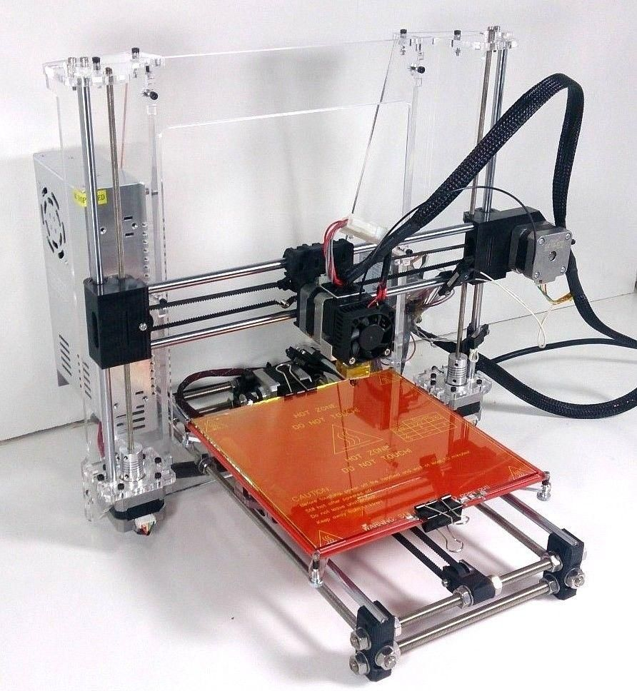 Prusa I3 Reprap Completo Impresora 3d Kit Marco Transparente