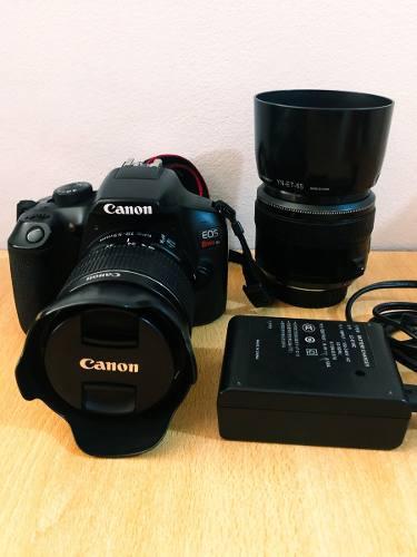 Cámara Canon Eos T6 + 2 Objetivos