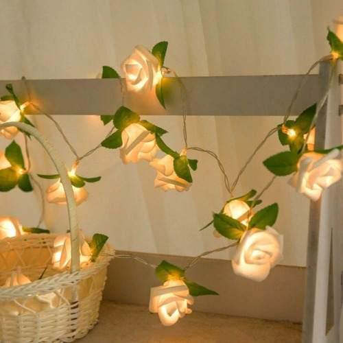Luz Led Decorativa Navidad Lampara Cuerda Flor De Ggzr