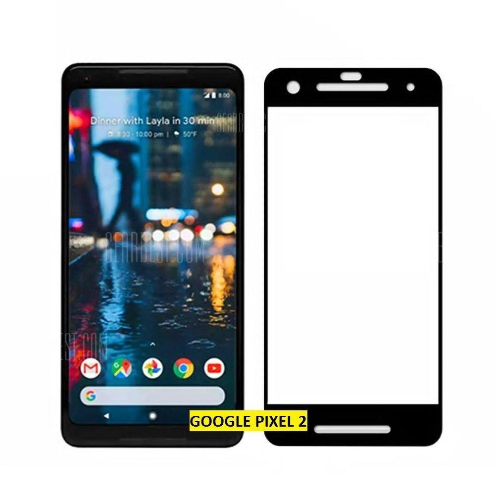 Vidrio protector Google pixel 2 bordes negros glass oferta