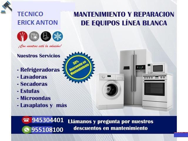 MANTENIMIENTO Y REPARACION DE LINEA BLANCA,