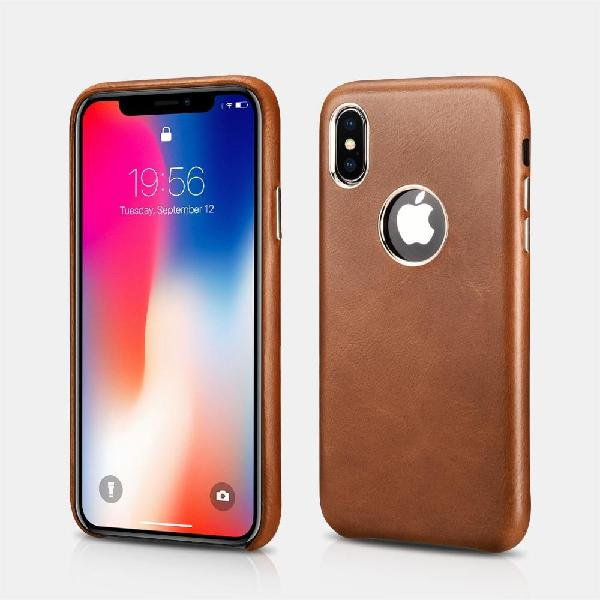 Case funda de Cuero Genuino para Celular iPhone X Xs Xs Max