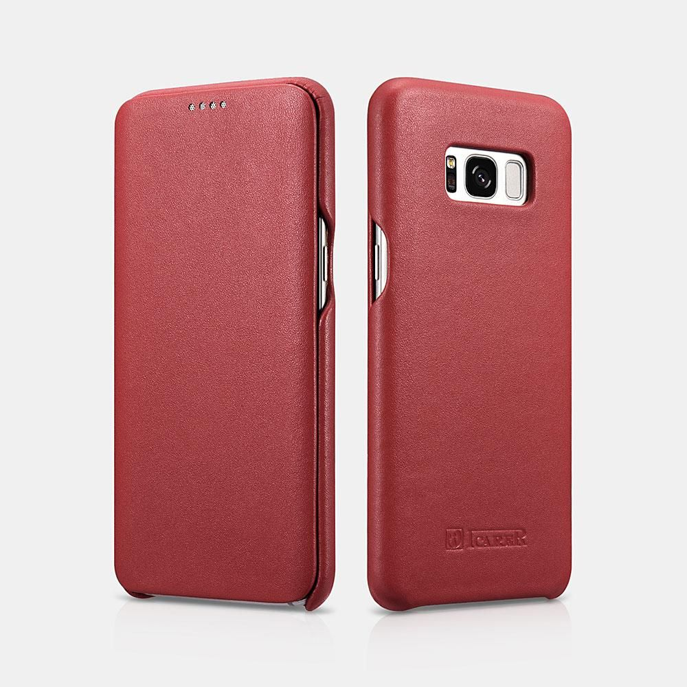 Funda Cuero Genuino Samsung Galaxy S8 Marrón, Negro Y Rojo