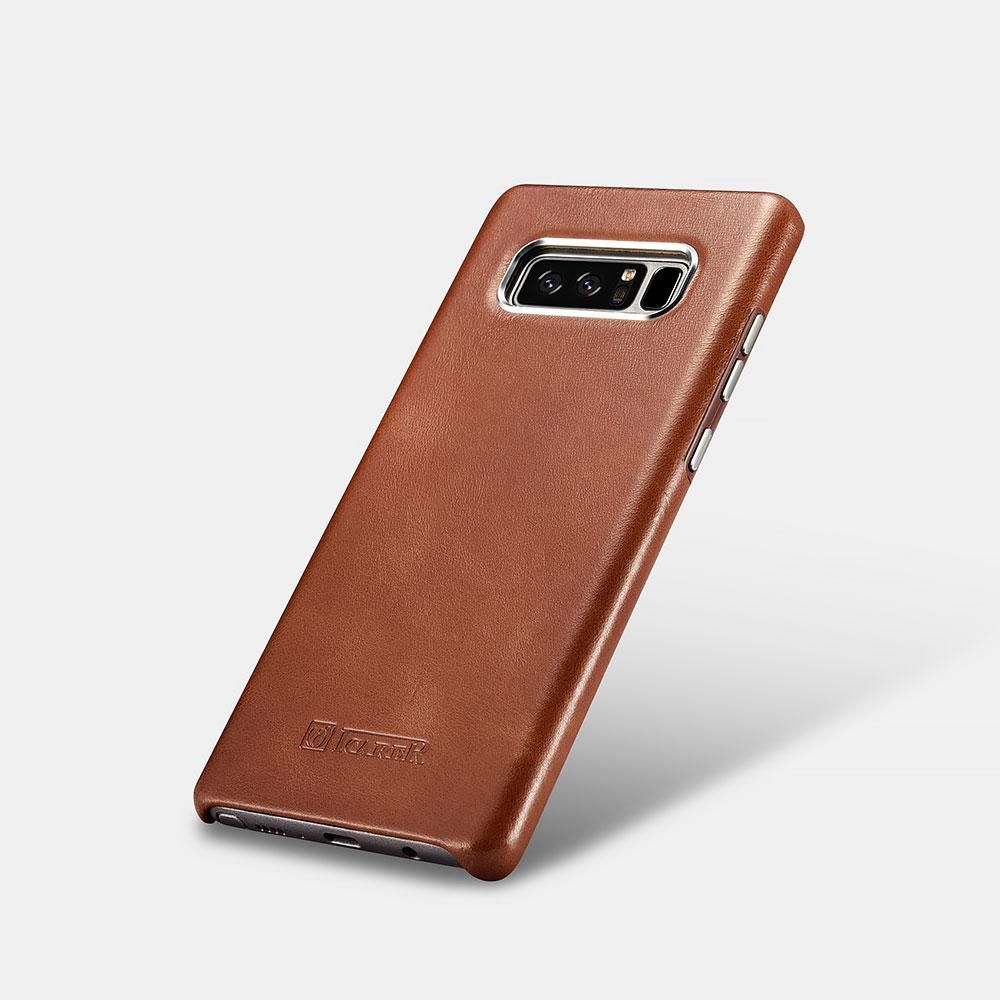 Funda Samsung Galaxy Note 8 Cuero Genuino Marrón Y Khaki