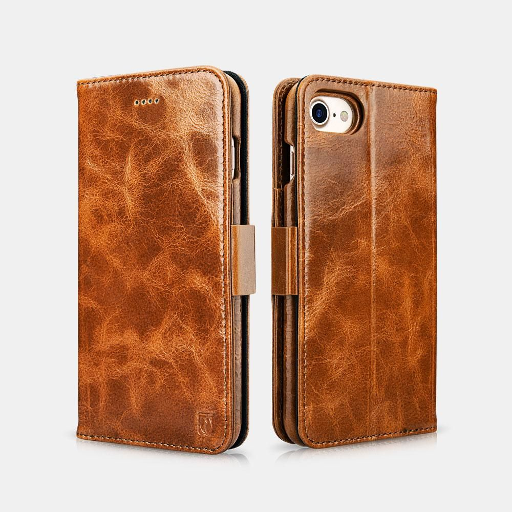 Iphone 7/ 8 Case Funda Cuero Genuino Ligero Apple 2 En 1