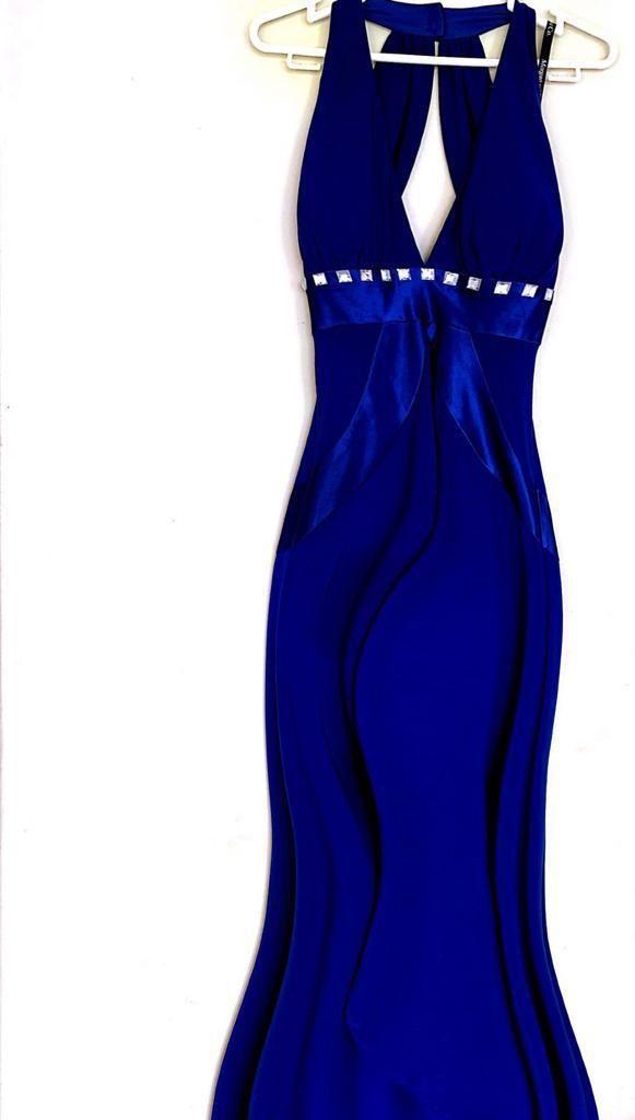 Mujer, Vestido Azul Talla 3 Americano