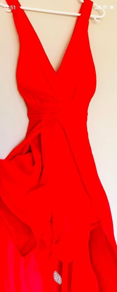 Mujer Vestido Nuevo Original Small Rojo