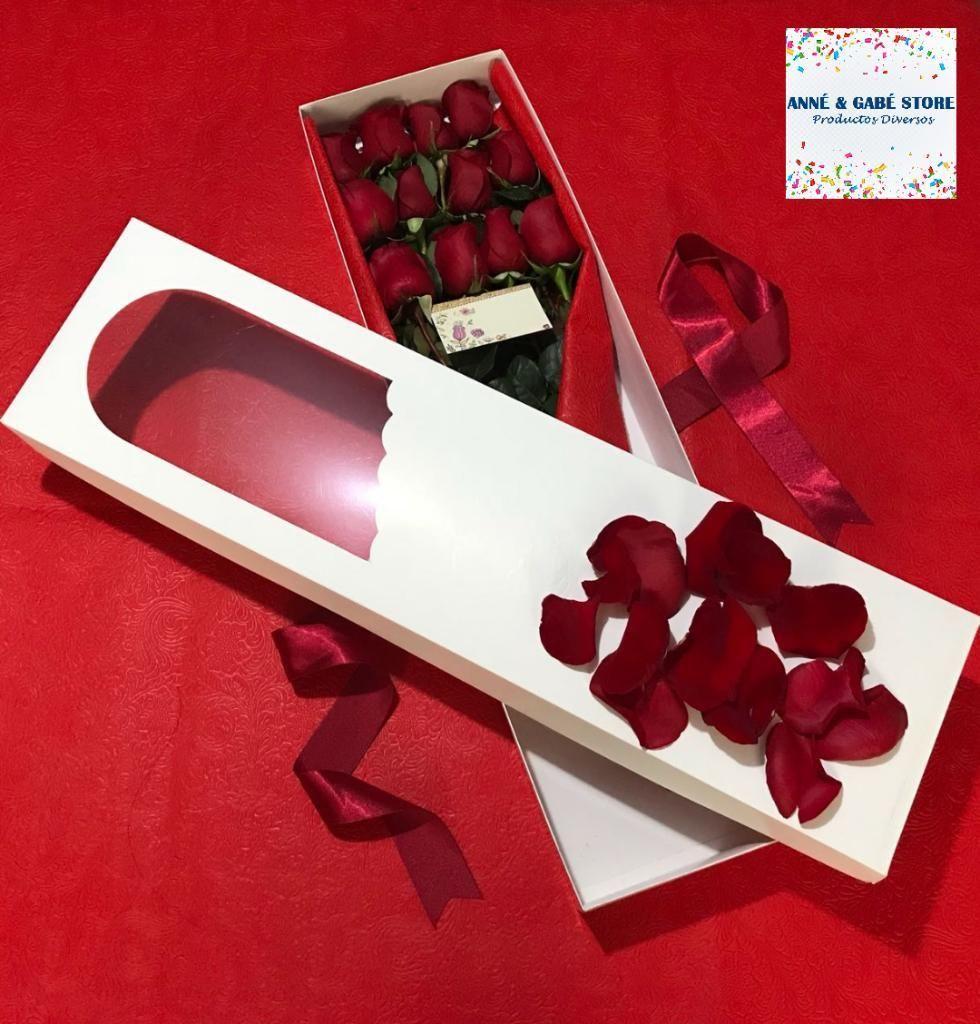 Rosas Tulipanes Distintos Colores Caja