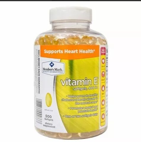 Vitamina E Member's Mark de 500 softgels