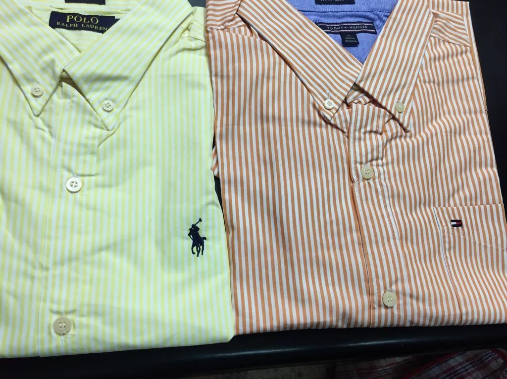 Camisas Tommy Hilfiger Y Polo Ralph Lauren a Rayas Amarilla