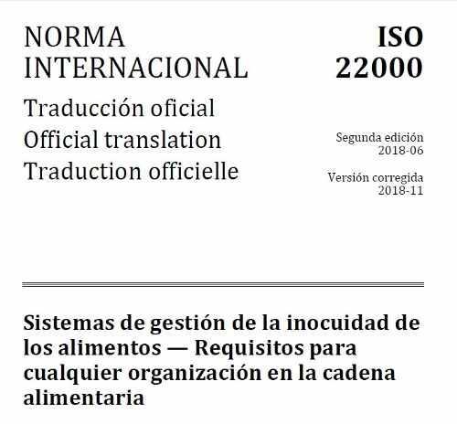 Norma Iso 22000: 2018 - Sist. Gestión Inocuidad De