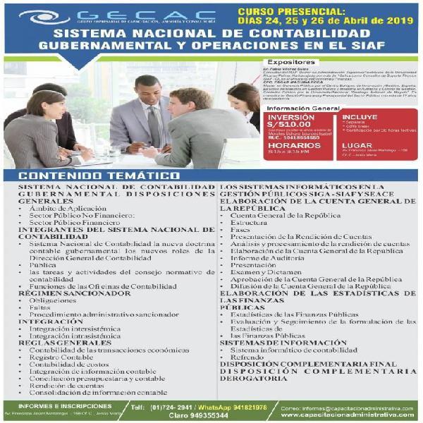 SISTEMA NACIONAL DE CONTABILIDAD GUBERNAMENTAL Y OPERACIONES