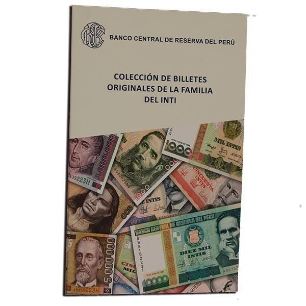 ÁLBUM COLECCIÓN BILLETES INTIS UNC