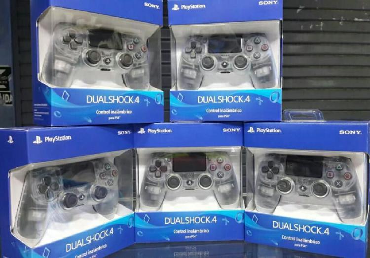 Mando Ps4 Dualshock 4 Crystal Nuevo y Sellado Stock