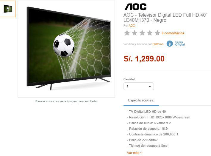 Televisor de 40 LED Full HD Digital LE40M