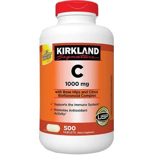 Vitamina C 1000mg - 500 Tabletas - Kirkland