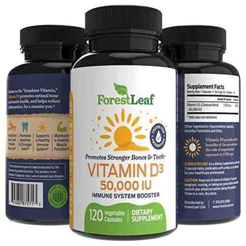 Vitamina D3 50,000 Iu 120 Capsulas Ansiedad Vegano +potente!