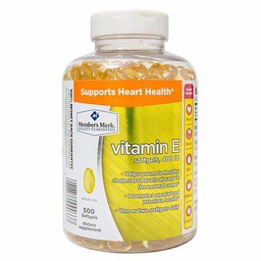 Vitamina E, Marca Member's Mark, 500 Gels