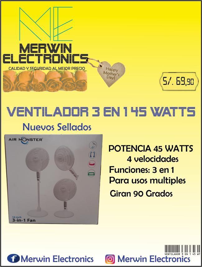 Ventiladores Multifuncionales 3 en 1