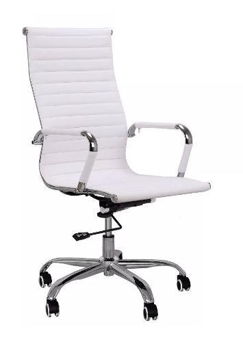 Sillón De Oficina Blanco Q-831 - Silla Blanca De Oficina