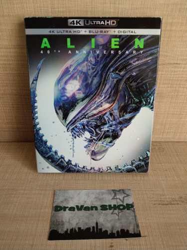 Alien 40 Aniversario Blu Ray 4k Pelicula Slipcover Stock