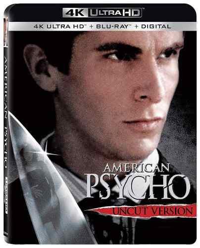 Blu Ray American Psycho 2d - 4k - Stock - Nuevo