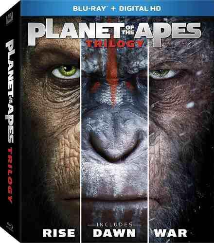 Blu Ray Planeta De Los Simios Trilogía - Stock - Nuevo