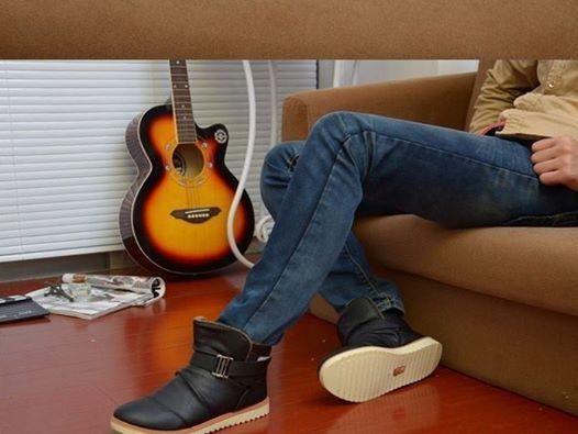 Zapatillas Para Hombre de Cuero Ocasión Importado Moda