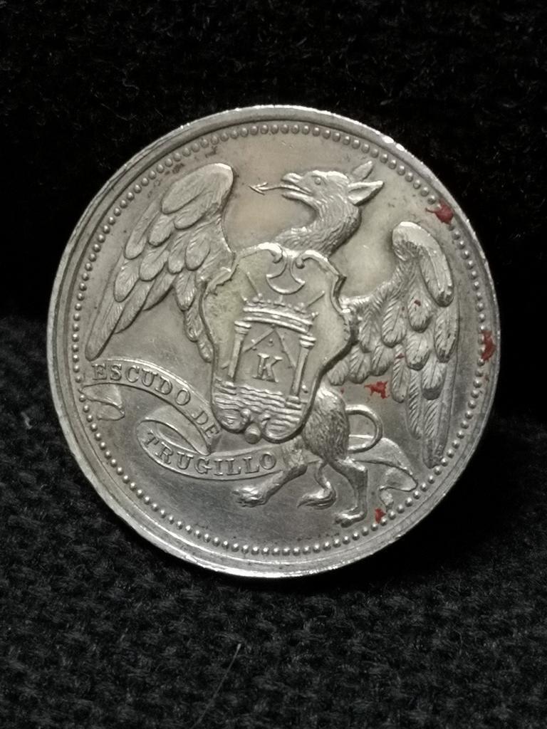 Antigua Medalla de Trujillo Escudo Rara