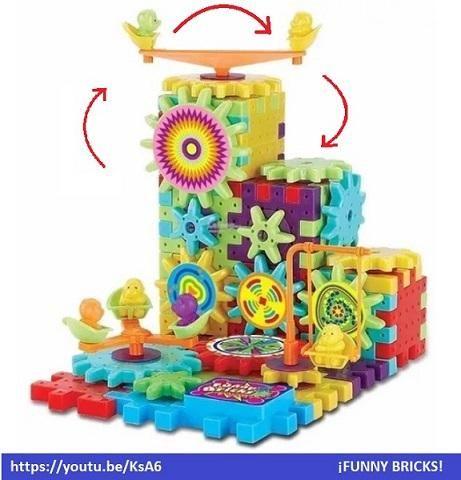 ¡Funny Bricks! Building Blocks Bloques de rotación