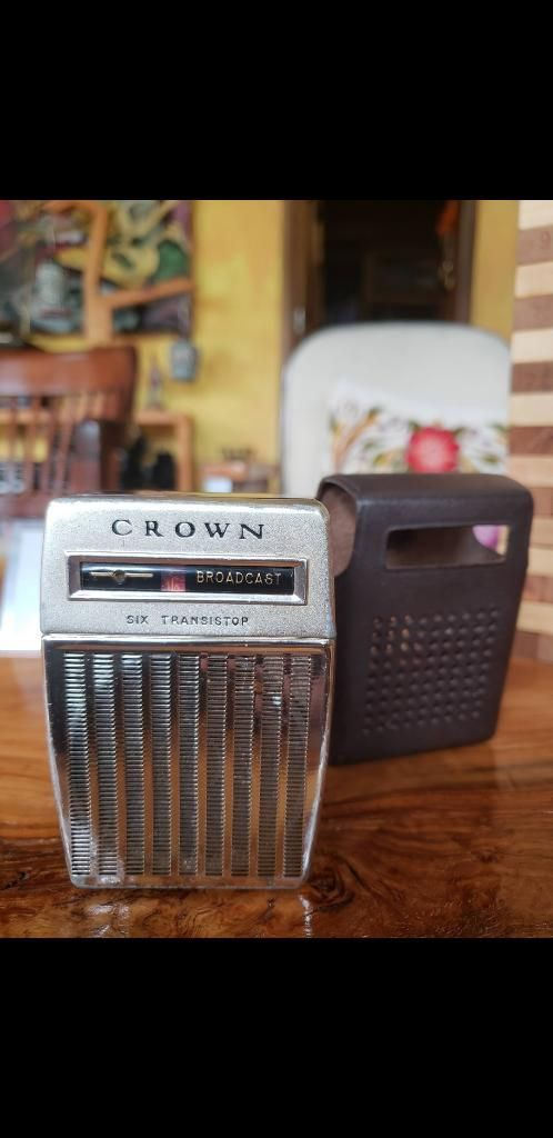Radio Crown Antigua Vintage Operativo