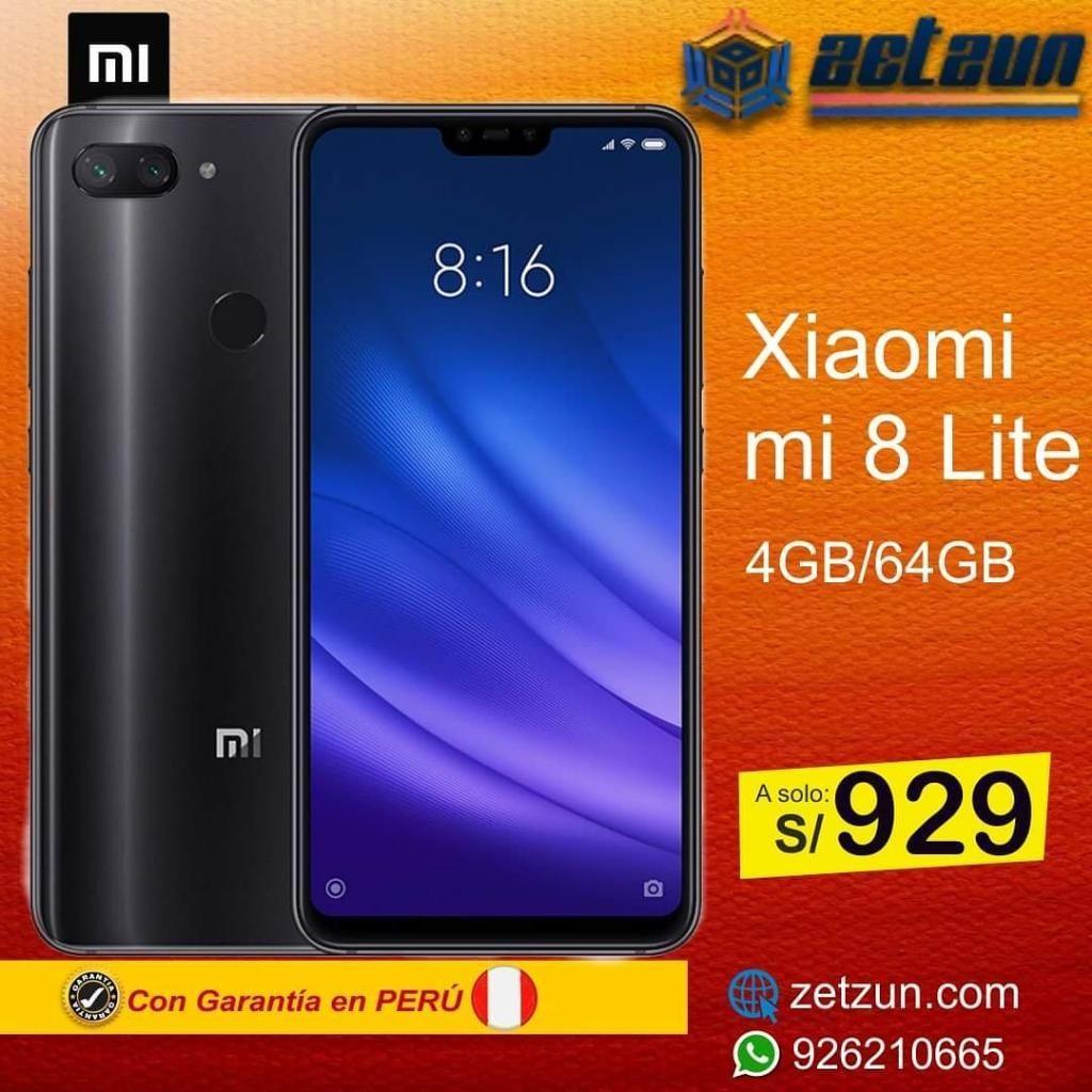 Xiaomi Mi 8 Lite 4gb 64gb Negro Y Azul