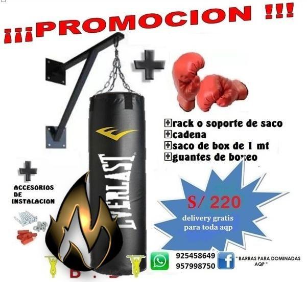 kit completo de boxeo,saco, guantes de box....