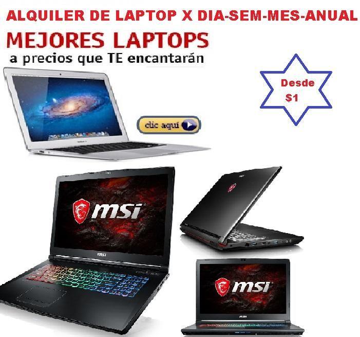 Servicio Alquiler de Computadoras, Laptop Proyector