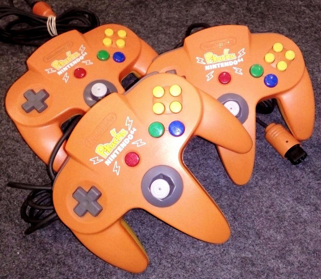 mandos de Nintendo 64, Edicion Pikachu, varios