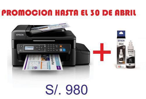 Multifuncional De Tinta Continua Epson L575, Imprime/escanea