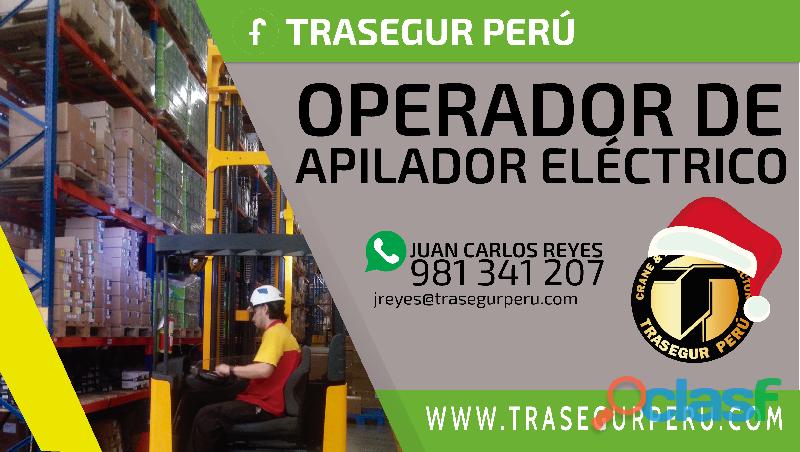 CURSO DE OPERADOR DE APILADOR ELÉCTRICO