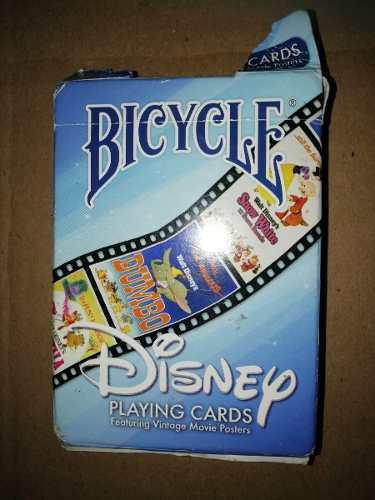 Cartas Bicycle - Disney - Cartas Completas Y En Buen Estado