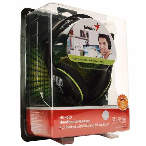 Audifono C/microf. Genius Hs-400a Green