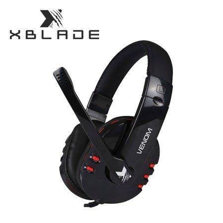 Audifono C/microf. Xblade Gaming Venom Hg8311 Black/red