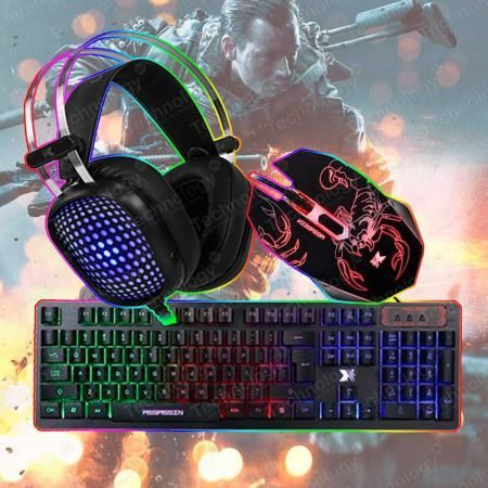 Combo 3 en 1 Teclado Mouse Audifono Xblade Gaming Assassin
