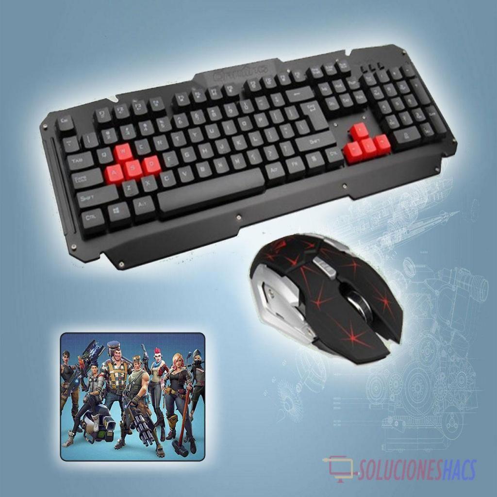 Kit Gamer Inalámbrico Teclado, Mouse, Pad