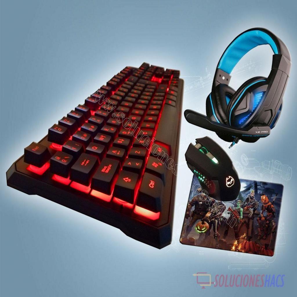 Kit Gamer Teclado, Mouse, Audifono, Pad