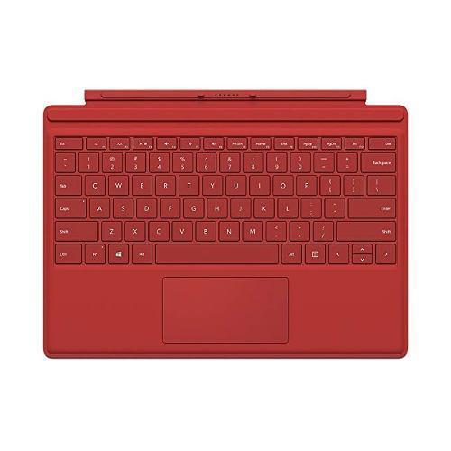 Microsoft Surface Pro 4 Type Cover (black), Rojo